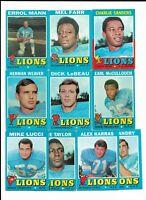 1971 Topps Detroit Tigers Team Set with Alex Karras