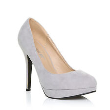 WOMENS LADIES HIGH STILETTO HEEL PLATFORM COURT SHOES SIZE 3-8