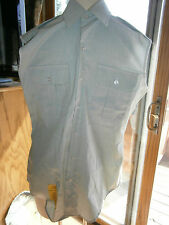 DSCP Mens Size 15 Sleeveless US Army Military Green Button Front Shirt Garrison