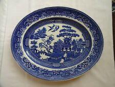 Vintage Addeney England Willow pattern oval platter - 36 cm