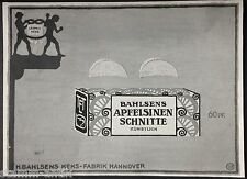 Leibniz-Keks,Bahlsens Keks Fabrik Hannover,Apfelsinenschnitte,orig.Anzeige 1915