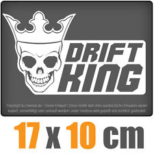 Drift King 17 x 10 cm JDM decal sticker coche car blanco discos pegatinas