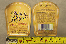 Original Crown Royal Special Reserve Whiskey Unused Label for Bottle