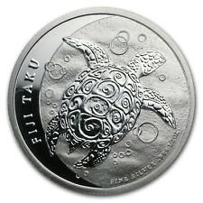 FIJI TAKU $1 2013 SILVER 1/2 Oz BU HAWKSBILL SEA TURTLE NEW ZEALAND MONEY COIN