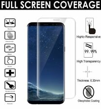 FULL CURVED TEMPERED S8 Glass Galaxy 3D Screen Protector CRYSTAL CLEAR LCD