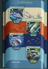 Sao Tome & Principe 2015 MNH Dolphins 4v M/S Marine