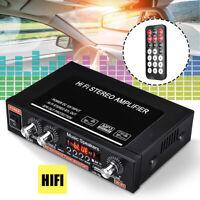 Hifi Bluetooth Car Audio Amplificador De Potencia FM Radio Player + Control