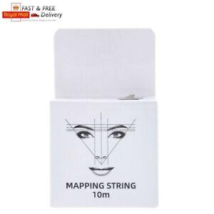 White Microblading 10m Pre-Inked Mapping String Thread Eyebrow Marker SPMU Henna