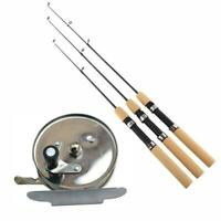 55CM Ice Reel Winter Fishing Rod Pen Pole Fishing Tackle Spinning O7F2