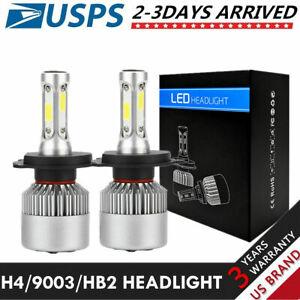 H4 9003 HB2 LED Headlight Kit COB 6000k 6k 32W 3600 Lumens White Hi/Lo