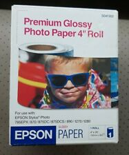 """Epson Premium Glossy Photo Paper 4"""" Roll - Sealed in Box - One (1) Roll - 4 Inch"""