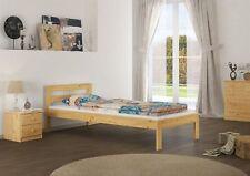 Lit d'enfant taille courte avec sommier à lattes pin massif 90x190 futon