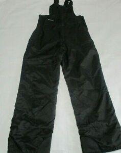 Columbia Youth Snow Bib Size 18/20 Black Pants Waterproof Girls