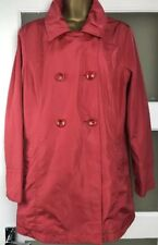 MARKS & SPENCER PER UNA WATER REPELLENT COAT RED SIZE 14 M&S rain jacket