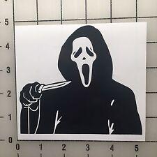 "Scream Ghostface Ghost Face 5"" Wide Black Vinyl Decal Sticker Set - BOGO"