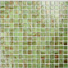 GREEN Glass Mosaic Tiles Bathrooms Kitchens Wall Floor BEST PRICE/QUALITY 4M-222