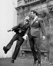 Jimmy Greaves and Norman Wisdom BW 10x8 Photo