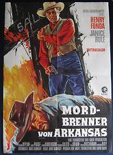 Orig. Movie Poster EA murder Burner Arkansas/Welcome to hard times H. Fonda