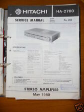 Manuel de Service pour Hitachi HA-2700 Amplificateur, Original