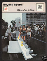 LASSE VIREN Water During 1976 Olympic Marathon Montreal 1978 SPORTSCASTER CARD