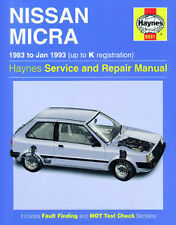 Nissan Micra 1.0 1.2 1983-1993 Haynes Manual 0931