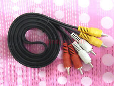 High Quality Brand 3 RCA to 3RCA Male Male-Male Audio Video DVD  AV Cable 1.5M