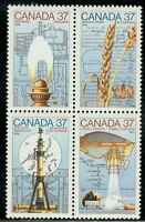 Canada #1206-1209 37¢ Science and Technology - 3 MNH
