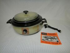 Vintage Sears Avocado Green Electric Casserole Cooker Model 302.653180 Rare