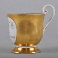 Meissen Biedermeier sammeltasse/taza, mucho oro, 1817-1824