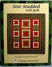 """Thimbleberries Quilting Pattern """"Star Studded Wall Quilt"""" plus Second Coloration"""