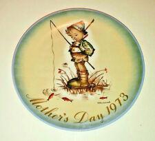 """Vintage 1973 Schmid Mothers Day Plate-Hummel""""Der Kleine Fischer"""" West Germany"""