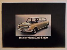 MORRIS 1800 & 2200 orig 1972 UK Mkt Sales Brochure - BL 2904/A