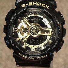 Casio G-Shock GA-110GB 55mm Analog-Digital Watch - Black & Gold