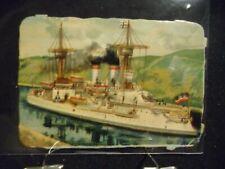 Victorian scrap # 7010 - BATTLE SHIP