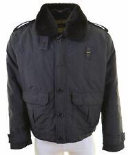 LEE Mens Military Jacket Size 44 2XL Black Polyamide  LO03