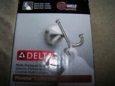 DELTA MULTI-PURPOSE HOOK~ PHOEBE COLLECTION~BRUSHED NICKLE