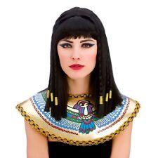 Parrucca nera Cleopatra Donna Principessa Cleo Intrecciato Costume Accessorio