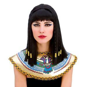 Black Cleopatra Wig Ladies Princess Cleo Braided Fancy Dress Costume Accessory