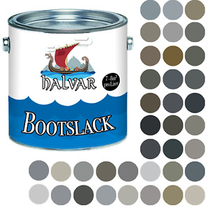 Halvar PU Bootslack SEIDENMATT Grau RAL 7000 - 7047 Yachtlack Metall & Holz
