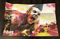Rage 2 Collector's Limited Deluxe Edition Poster (No Game!) Bethesda PS4 XBOX