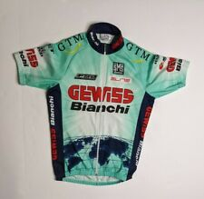 Gewiss Bianchi Santini M Rare Retro Vintage Team Cycling Jersey Made in Italy