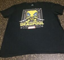 Marvel Yellow Deadpool Funko MEN'S LARGE T-Shirt Pop Black Collector Comics