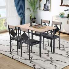 5Pcs Dining Table and Chairs Set Modern For Apartment Kitchen,Dining Room US