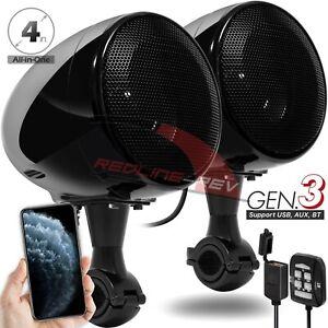 300W Bluetooth Motorcycle Handlebar Audio Amplifier Stereo Speaker System Harley