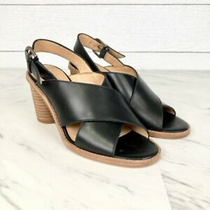 Madewell The Ruthie Crisscross Sandals in Black Leather Size 5.5 NWOB