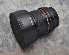 Samyang 8mm f/3.5 UMC Aspherical Fish Eye CS II Lens Caps Hood Canon EOS (#3627)