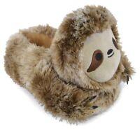Ladies Novelty Plush Sloth Slippers