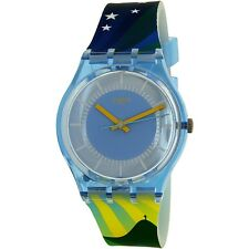 Swatch Men's Gent GS147 Blue Silicone Japanese Quartz Fashion Watch
