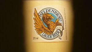 OLD BRITISH BEER LABEL, WHITBREAD BREWERY LONDON ENGLAND, HELDENBRAU 2