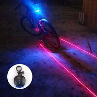 MTB-Fahrrad BLAU Rücklicht 2-Modi 5-LED Fahrradlampe Fahrradrücklicht+Halter Set